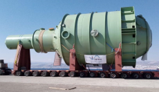 Largest unit arrived and transported in Jordan since 1996